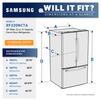 Samsung appliance rf220nctasr 9