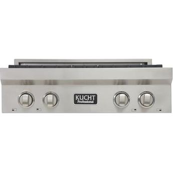 Cooktops Kucht KRT3040 Professional 30 Natural Gas Range-Top with Sealed Burners in Stainless Steel