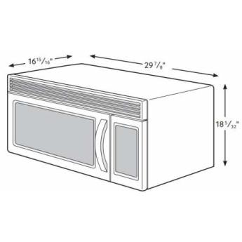 Samsung appliance me21h706mqg 21