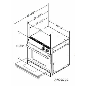 American range arosg30l 4