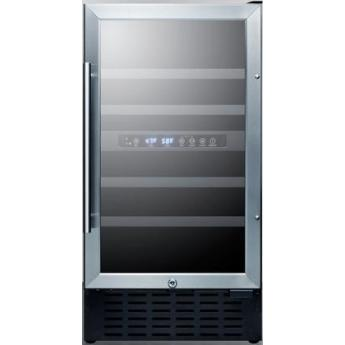 Summit swc182z 18 inch built in and freestanding wine cooler 1