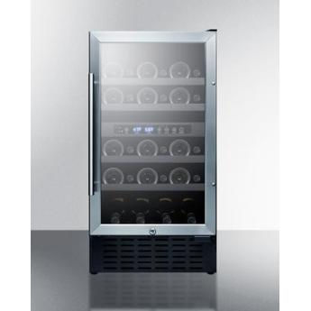 Summit swc182z 18 inch built in and freestanding wine cooler 2