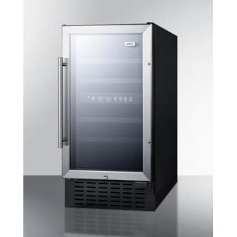 Summit swc182z 18 inch built in and freestanding wine cooler 3