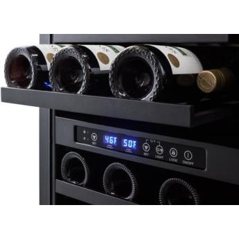 Summit swc182z 18 inch built in and freestanding wine cooler 4