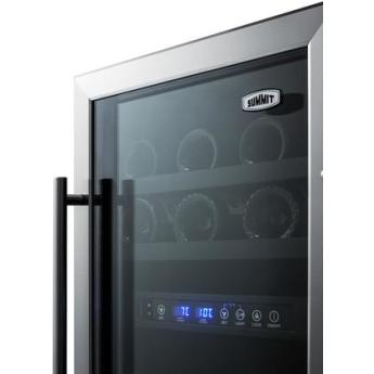 Summit swc182z 18 inch built in and freestanding wine cooler 5