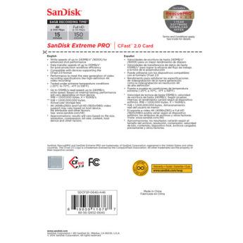 Sandisk sdcfsp 064g a46d 5