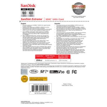 Sandisk sdsdxvf 256g ancin 3