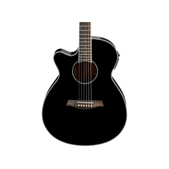 Ibanez Aeg10lii Lefty Cutaway Acoustic Electric Guitar Black Greentoe