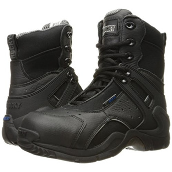 30748aa650a Rocky Mens Black 1St Med Carbon Fiber Toe Side Zip WP Boots - 9W ...