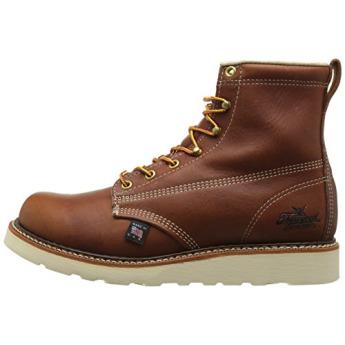 fb2da7d1453 Thorogood Mens Brown Plain NST Wedge Work Boots -12 W, 814-4355